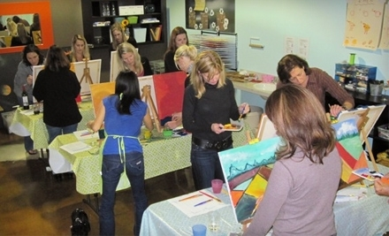 Play Boutique: 1 Sips & Drips Painting Class and a $10 Credit to the Beeztro Cafe - Play Boutique in Lake Oswego