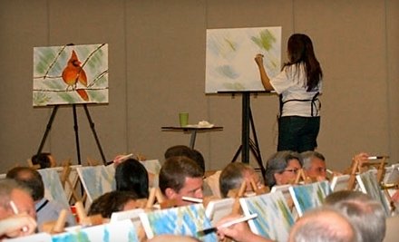 art class and wine glass houston tx groupon