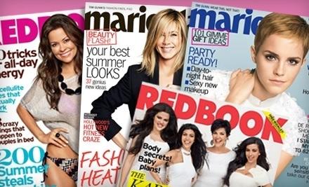 Marie Claire and Redbook - Marie Claire and Redbook Magazines in