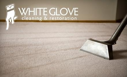White Glove Cleaning & Restoration: Deep Steam Carpet Cleaning for 2 Rooms - White Glove Cleaning and Restoration in