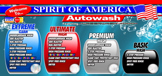 Car Wash Prices: Spirit Of America Car Wash - Streamwood, IL