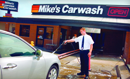 mike 39 s express carwash indianapolis in groupon. Black Bedroom Furniture Sets. Home Design Ideas