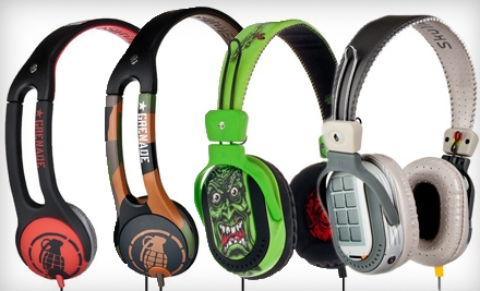 Skullcandy: Pair of Icon 2 Grenade Headphones Including Shipping in One of the Following Color Combinations: Army/camo or Black/red - Skullcandy in