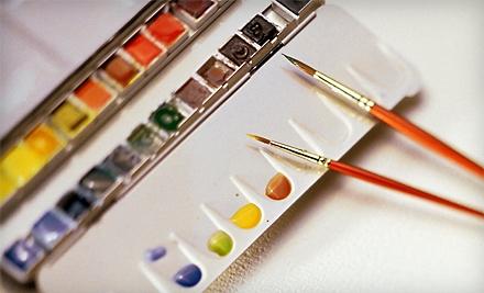 2 Beginning Watercolor Classes (a $50 value) - Bear White Studios in Davisburg
