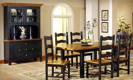 $275 Groupon for Hardwood Furniture and Home Decor - Country Marketplace in Braintree