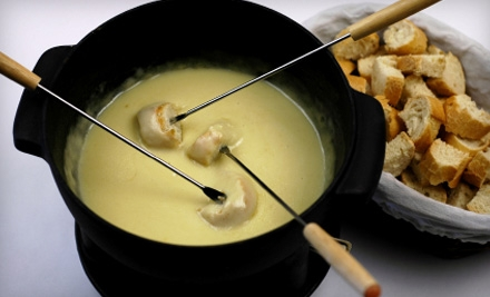 Fondue for 4 ($58 value), Includes a Full Pot of Cheese Fondue ($18 value), and Chocolate Fondue for 4 People ($40 value) - Simply Fondue in Glendale