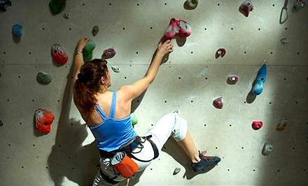 12-Visit Rock-Climbing Punch Card Plus Shoe and Harness Rental (a $120 value) - Redmond Athletic Club in Redmond