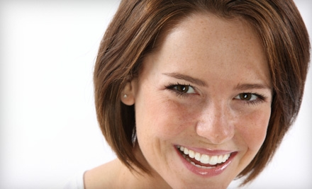 Dental Package (a $439 Value), Including an Exam (a $92 Value), Cleaning (a $90 Value), X-Rays (a $136 Value), and Whiter Image At-Home Teeth-Whitening Kit, Including Custom Mouth Trays (a $175 Value; a $439 Total Value) - Sunny Smiles Dental in San Diego