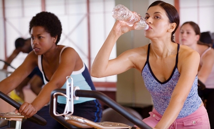1-Month Gym Membership Including Spin Classes (a $39 value) and 5 Barre Fitness Classes (a $90 value; a $129 total value) - Club Fitness Addiction in Huntington Beach