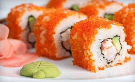 $60 Groupon to Blue Fine Sushi Bar and Restaurant - Blue Fin Sushi Bar and Restaurant in Denver