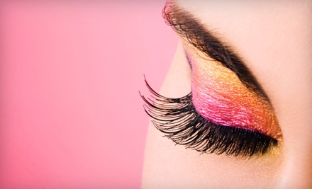 Full Set of De Lash Elegant Eyelash Extensions with up to 60 Lashes per Eye and a 2-Week Lash Fill (a $250 value) - De Lash Epiphany in McKinney