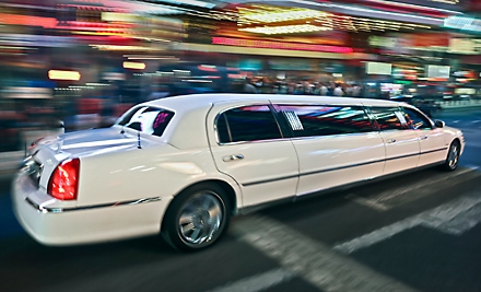 4-Hour Limo Rental for Up to 10 People (up to a $519 value) - First Class Sedan in