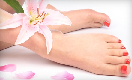 1 Mani-Pedi Special (up to a $55 value) - Robert's Salon and Spa in Belmont
