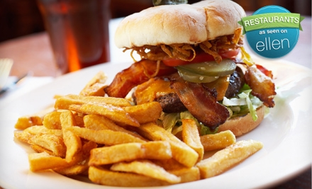 Burger Meal for 2 (up to a $33.90 total value) - Pudley's in San Carlos