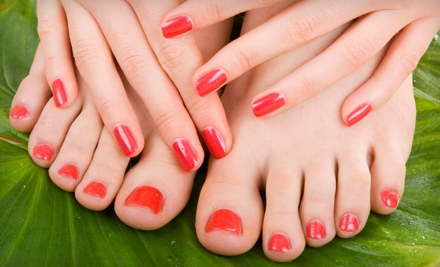 Choice of a Shellac Manicure or Pedicure (a $45 value) - A List Nail & Lash Boutique in Dallas Tx.