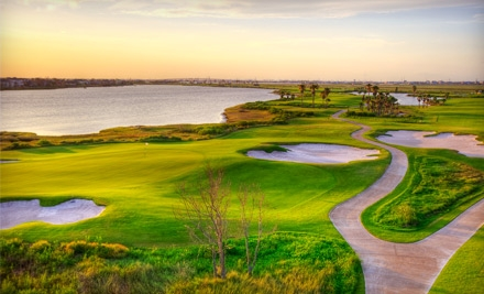 Golf Outing for 2 (up to a $149 value) - Moody Gardens Golf Course in Galveston
