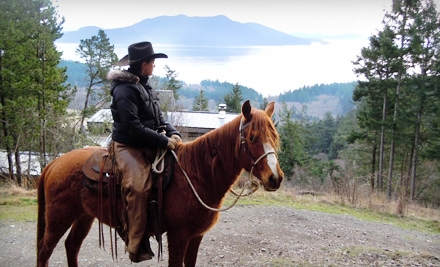 1.5-Hour South Arch Trail Ride (a $79 value) - Orcas Island Trail Rides in Olga