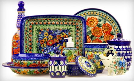 $50 Groupon to Polmedia Polish Pottery - Polmedia Polish Pottery in