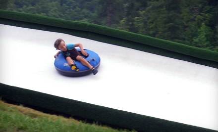 2-Part Ziplining Experience and an Hour of Unlimited Dry-Snow Tobogganing for 2 (a $130 value) - Cherokee Valley Ranch in Jasper