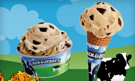 Punch Card for Five Small Ice Creams in a Cone or Cup (a $19.75 value) - Ben & Jerry's in Happy Valley