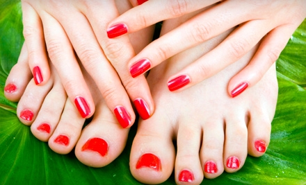 Manicure (a $15 value) and Essential Pedicure (a $30 value; a $45 total value) - Sweet Serenity Beauty Bar in Duluth