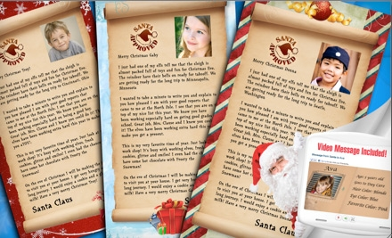 1 Personalized Letter and Video from Santa (an $11.99 value) - Social North Pole in