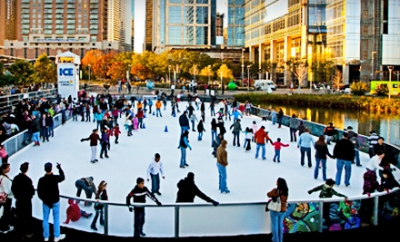 Admission and Skate Rental for 2 (a $20 value) - The Ice at Discovery Green in Houston