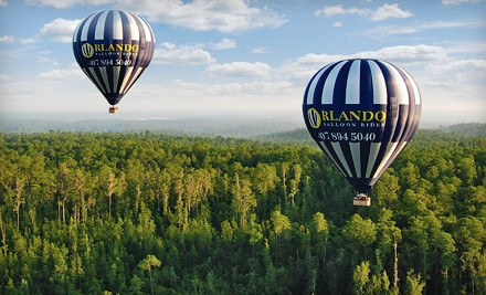 Hot Air Balloon Experience Valid Before February 29, 2012 (a $175 value) - Orlando Balloon Rides in Kissimmee
