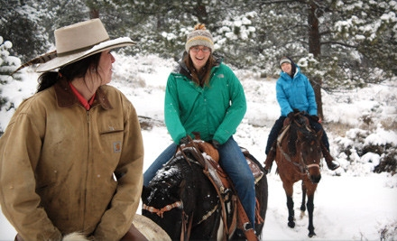 60-Minute Horseback-Riding Adventure with Hot Chocolate for 2 (an $80 value) - Estes Park Horseback in Estes Park