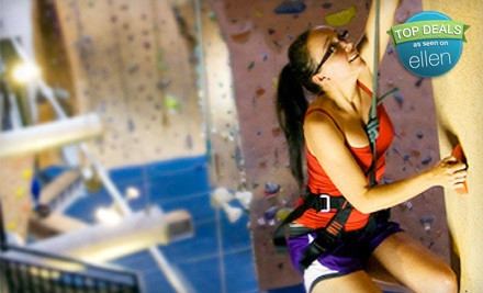 Two 60-min. Belaying Lessons, Two Full Days of Climbing After Lessons, & Rental Equipment  - Hangar 18 Indoor Climbing Gyms in Upland