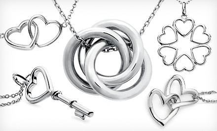 Infinity Love Knot Pendant (a $66 value) - Blue Nile Sterling Silver Necklaces in