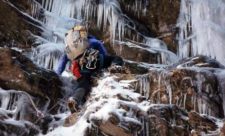 Private, Beginner's Ice-Climbing Excursion for 2 - Petra Cliffs Climbing Center & Mountaineering School in Burlington
