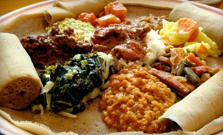 20 E 5th St. in Kansas City: Ethiopian Dinner Experience for 2 - Blue Nile Cafe in Kansas City