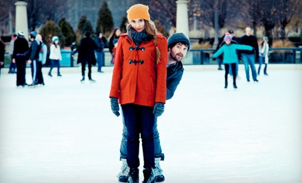 2 Children's Tickets and Skate Rental on Mon.-Thu. - Rink at Wrigley in Chicago