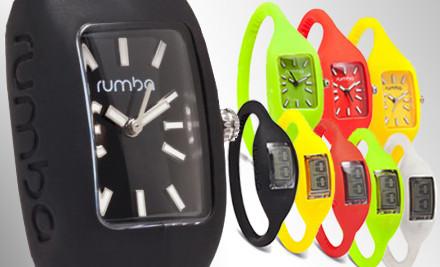 Original 2.0 Wristwatch: Big Apple, Large (a $20 value) - RumbaTime Wristwatch in