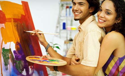 Friday- or Saturday-Night Painting Class for 2  - Bubbles and Brushes Art Studio in Newnan