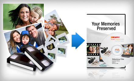 $100 Groupon for Photo and Video Digitization Services - ScanDigital in