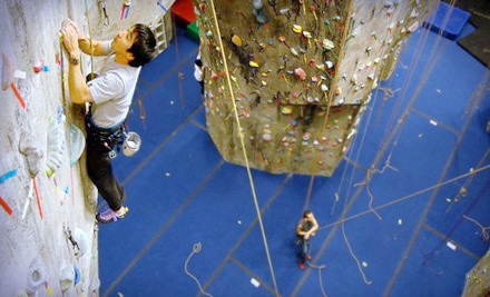 Intro to Climbing & Belaying Class ($75), 1 Month of Unlimited Climbing ($115) & Equipment Rental ($80; $270 total value) - The Rock Club in New Rochelle