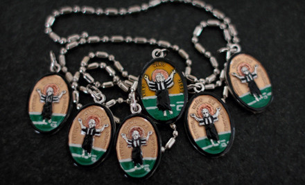 One Imported Italian Saint Medallion (a $27 value) - Saints for Sinners in