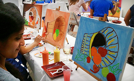 1 Cookies and Milk Painting Class for Children Ages 5 to 12 (a $25 value) - Art by the Glazz in Chantilly
