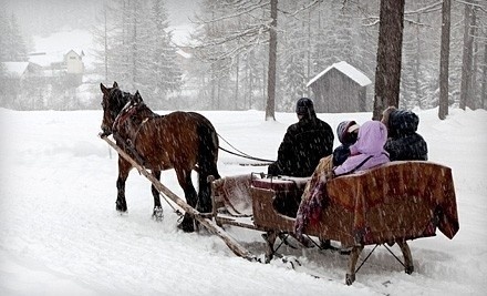 Sleigh- or Carriage-Ride for 2 with Hot Chocolate and S'mores (a $48 value) - Cornerstone Ranch in Princeton