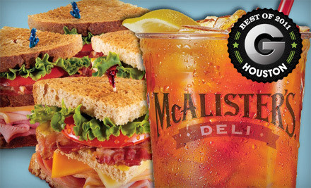 McAlisters Deli North Locations: Cypress, The Woodlands, and the Houston Location at 7502 FM 1960 W - McAlister's Deli in Galveston
