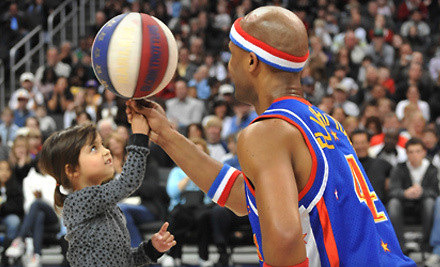 Harlem Globetrotters at the EnergySolutions Arena on Mon., Feb. 13 at 7PM: Sections 6-8 or 17-19, Rows 17-25  - Harlem Globetrotters in Salt Lake City