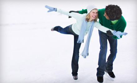 2 Public Ice-Skating Passes with Skate Rental (a $23.70 value) - The Gardens Ice House in Laurel