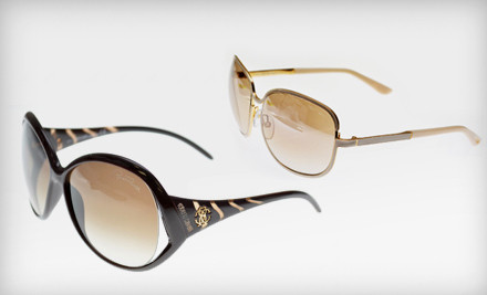 Pair of Silver and Black Montblanc Sunglasses, Model #MB231S (a $615 value) - SunnyEyes.com in