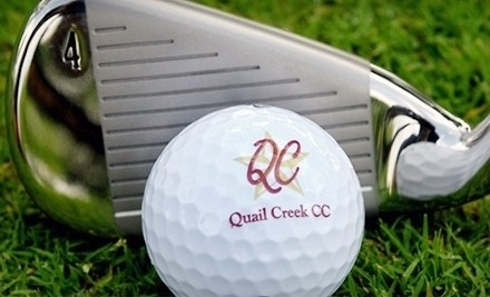 18-Hole Round of Golf for Two, Including Cart Rental and Two Small Buckets of Range Balls - Quail Creek Golf Club in San Marcos