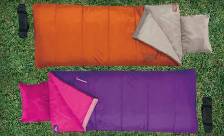 1 Boys' Kelty Star Gazer 45 Sleeping Bag: Orange (a $30 value) - Children's Sleeping Bags in