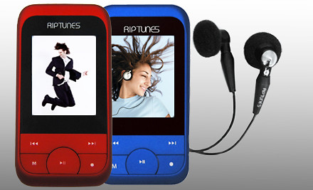 Riptunes 4G MP3 Music Player with FM Radio: Blue (a $50 value) - MP3 Music Player in