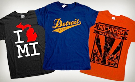 1 Michigan-Inspired T-Shirt (up to a $26 value) - Detroit Motor Apparel in