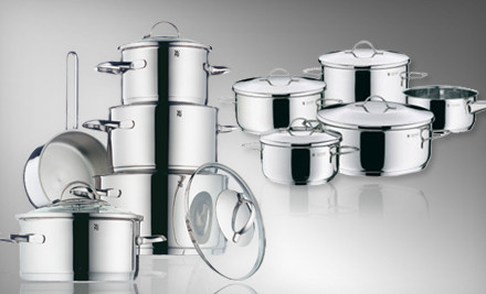 Casa Nine-Piece Cookware Set (a $420 value) - Stainless Steel Nine-Piece Cookware Set in